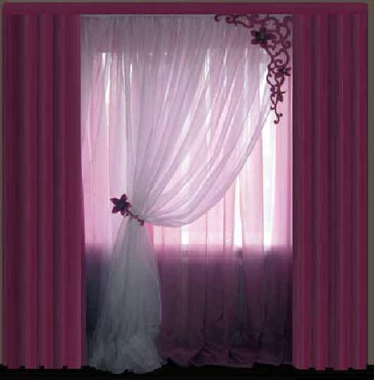 Красивые шторы в спальню своими руками