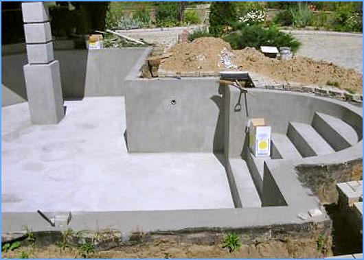 Как сделать бассейн из блоков
