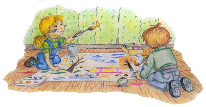 Дети вот мы какие рисунок